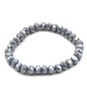 NWT • blue gray stretchy bracelet